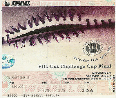 Bradford Bulls v St Helens 27 Apr 1996 Challenge Cup Final RUGBY LEAGUE TICKET