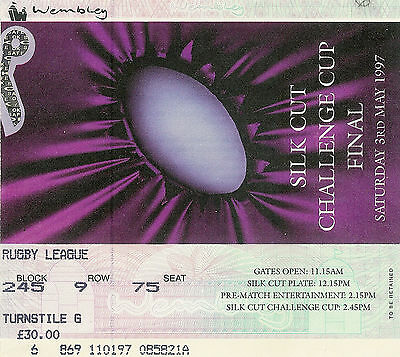 Bradford Bulls v St Helens 3 May 1997 Challenge Cup Final RUGBY LEAGUE TICKET