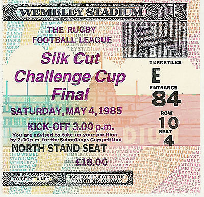 Hull v Wigan 4 May 1985 Challenge Cup Final RUGBY LEAGUE TICKET