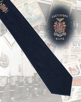 Castleford RLFC players tie, Malcolm Reilly - 7.5cm RUGBY LEAGUE TIE
