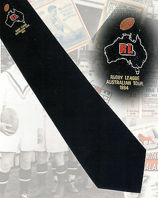 GB to Australia 1984 tour, possibly a players tie - 8.5cm RUGBY LEAGUE TIE