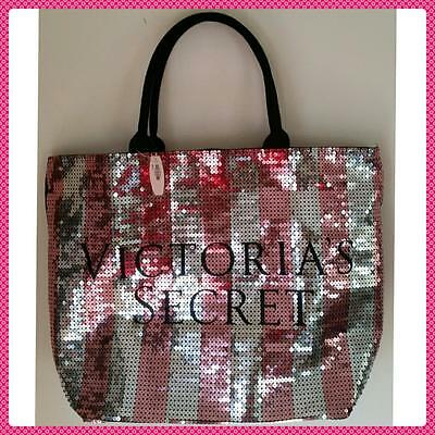 Victoria's Secret *2015 Le Sequin Black Friday* Canvas Weekender Tote Bag (Nwt)