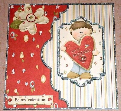Handmade greeting card 3d valentines day with a boy and a heart handmade greeting card 3d valentines day with a boy and a heart m4hsunfo