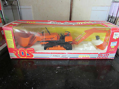 Rare Jouef Group Ros Toys 80903 Tractor Crawler Loader Excavator. Olimpus Turbo