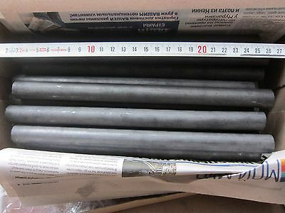 8x NOS soviet GRAPHITE, CARBON rod, electrode (18mm x 255mm)! or MORE!