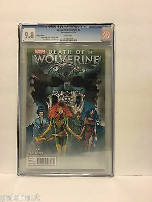 Death Of Wolverine # 4 Cgc 9.8. Hastings Variant! All New Marvel Now!