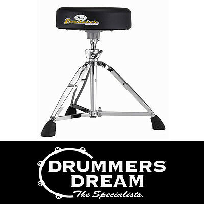 """Pearl D-1000N Drum Throne Stool Height Adjustable Round 13"""" Cushion Brand New"""