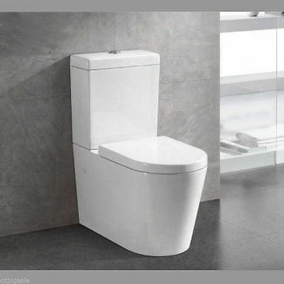 NEW TOILET SUITE Designer BACK TO WALL FACED CLOSE COUPLED SOFT CLOSE