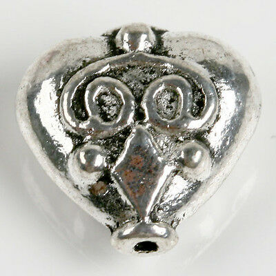 15 pcs Tibetan Silver Octopus Face European Spacer Beads Jewelry Finding