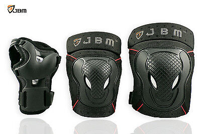 JBM Sports Protective Gear safe guard Knee Elbow Wrist pad for Adult skateboard