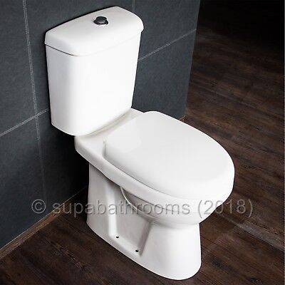 Comfort Height Toilet Raised Height WC Elderly Disabled Doc M Close Coupled