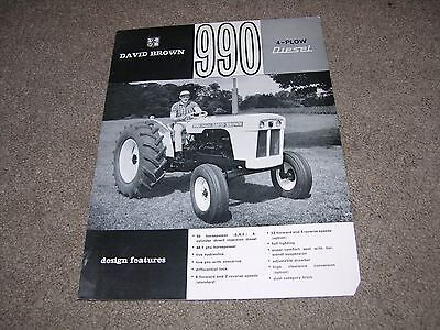 Vintage David Brown 990 Tractor Brochure c1960s?