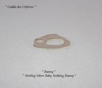 Sterling Silver Baby Teething Bunny