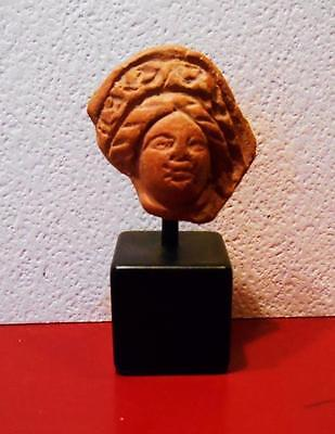 Egyptian Terracotta Head Of A Woman (Eh2015) *Special*