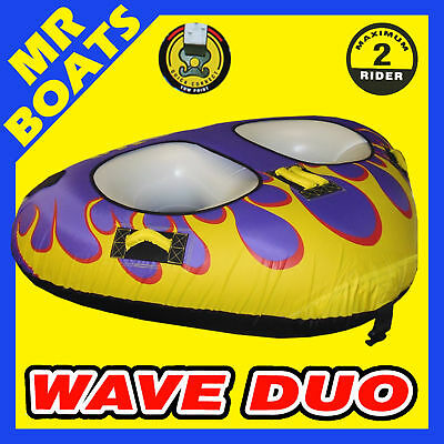 """SKI TUBE  1 - 2 Person Ski Biscuit LARGE WAVE DUO 81"""" 206cm A+ Quality FREE POST"""
