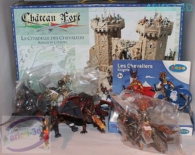 Big Lot New Playset Knights' Citadel Castle With Action Figures Dragon Medieval