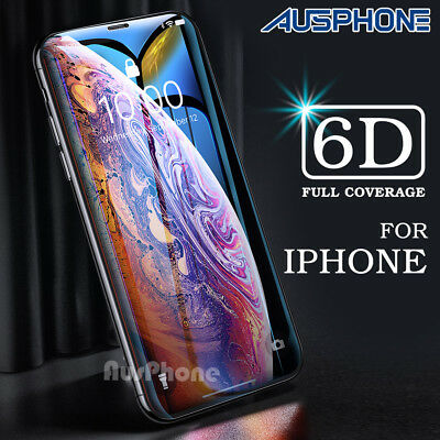 iPhone XS Max XR 8 7 6s Plus Tempered Glass Screen Protector 6D Full Cover Apple