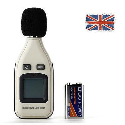 Digital 30-130dB Sound Level Meter Decibel Tester with LCD Battery in UK
