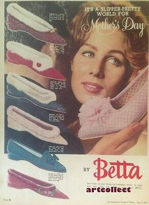 Original Vintage Australian Ad: Betta Slippers (1963)