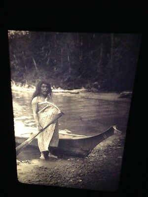 "Edward Curtis ""Quatsino Sound""  Native American photography 35mm slide"