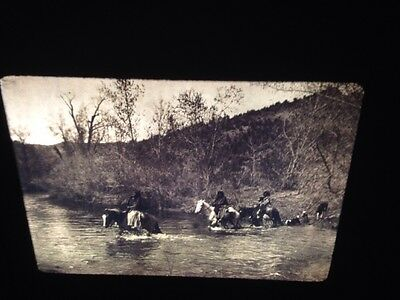 "Edward Curtis ""The Ford 1903"" Apache Native American photography 35mm Art slide"