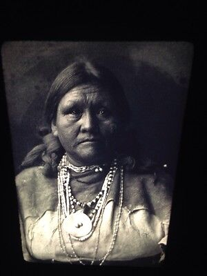 "Edward Curtis ""Matron"" Jicarilla Native American Photography 35mm Art Slide"