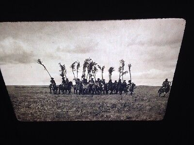 "Edward Curtis ""Return W/ Willows"" Piegan Native American photography 35mm slide"