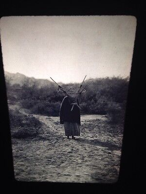 "Edward Curtis ""Burden Bearer"" Pima Native American Photography 35mm Art Slide"