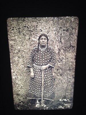 "Edward Curtis ""Woman"" Apsaroke Native American Photography 35mm Art slide"