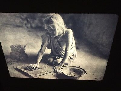 "Edward Curtis ""Hopi Potter"" Hopi Early Native American photography 35mm slide"