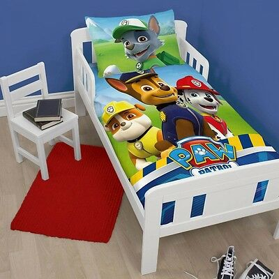 Paw Patrol Panel Junior Cot Bed Duvet Quilt Cover Set Brand New Gift