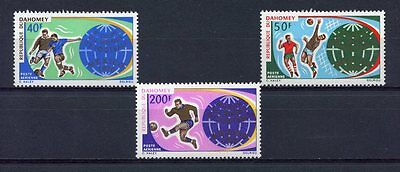 s4914) DAHOMEY 1970 MNH** World Cup Football - Coppa del Mondo Calcio 3v
