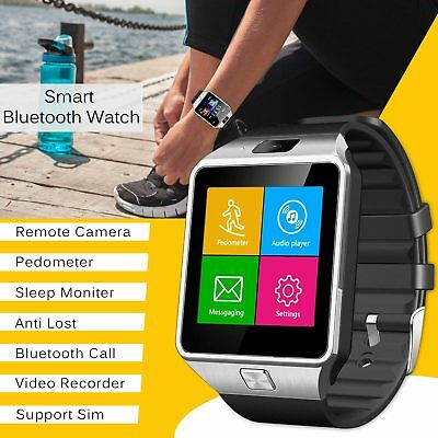 Bluetooth Smart Watch SIM Slot & Camera For Android Smart Phone Compatible UK
