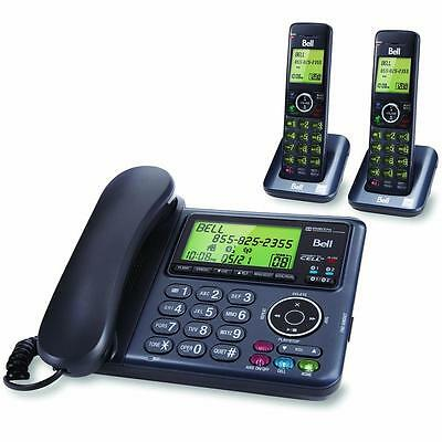 Bell Dect 6.0 Corded/cordless Phone With 2 Handsets & Bluetooth- Charcoal/black