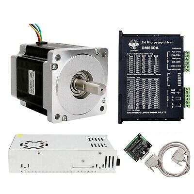 USA free ship!1 Axis Nema 34 Stepper Motor 965oz.in 5.6A +Driver 80V CNC