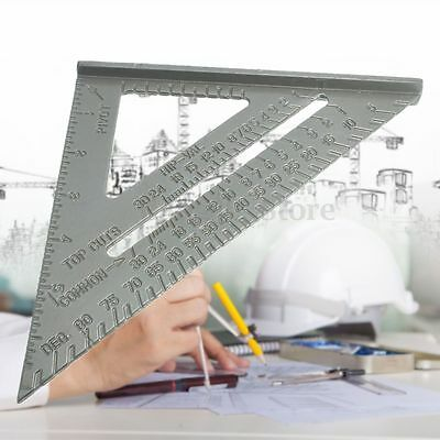 Aluminum Alloy 6'' Square Protractor Miter Framing Measuring Tool Triangle Ruler
