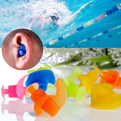 2x Soft Waterproof Silicone Swimming Swim Diving Water Sport Ear Plug Protector