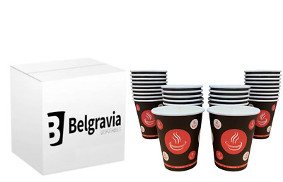 Belgravia Hot Drinks Paper Cups,25, 50 to 1000 Tea & Coffee & Disposable Lids