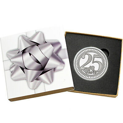 2019 25th Anniversary 1oz .999 Fine Silver Round by SilverTowne