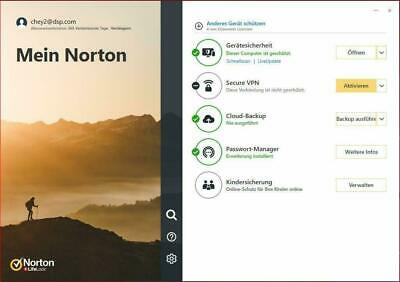 NORTON BY Symantec Deluxe 3 PC  aktuelle Version EU KEY 2019