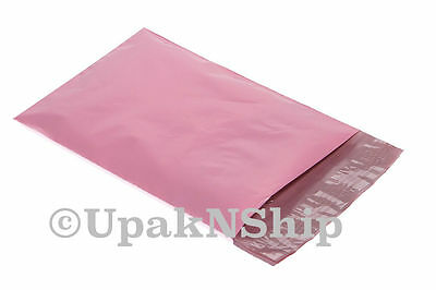 50 12x15.5 PALE PINK Poly Mailers Shipping Envelopes Boutique Shipping Bags