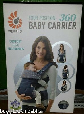 Ergo Baby Four Position 360 Carrier - Dusty Blue - BRAND NEW IN UNOPENED BOX!