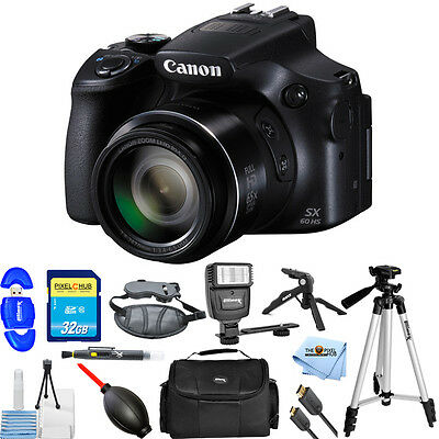 Canon PowerShot SX60 HS Digital Camera With 16.1MP and 65X Zoom! Starter Bundle!