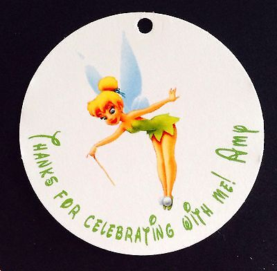 10 Tinker Bell Birthday Favor  Tags - Text Customized