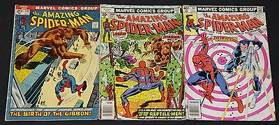 Vintage Marvel Bronze/Copper Age Amazing Spider-Man 3pc Comic Lot 5.0-6.5 ASM