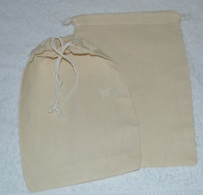 CALICO BAGS -DRAWSTRING 20x30cms lots of 5, 10, 25, 50, 100.
