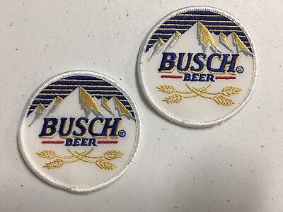 Lot Of 2 Busch Beer Anheuser-Busch Budweiser Bud Embroidered Patches 3""