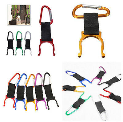 2X Cool Water Bottle Holder Hook Buckle Clip Carabiner Snap Outdoor Camping Hike