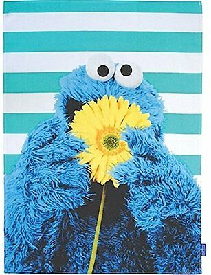 COOKIE MONSTER TEA TOWEL - Sesame Street Kitchen Accessory - Blue Kitchen Cloth