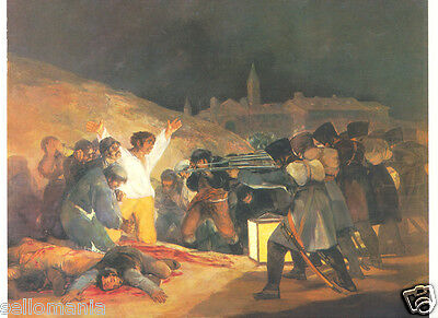 POSTAL GOYA FUSILAMIENTOS 3 MAYO 210 x 150 mm PAINTING POSTCARD PAINTER  TP11610